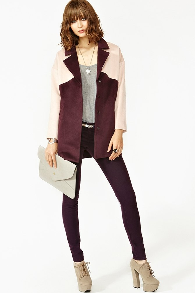 You truly can't beat the price of Nasty Gal's Two-Tone Coat ($39, originally $78) — and the rich hues are so on trend.