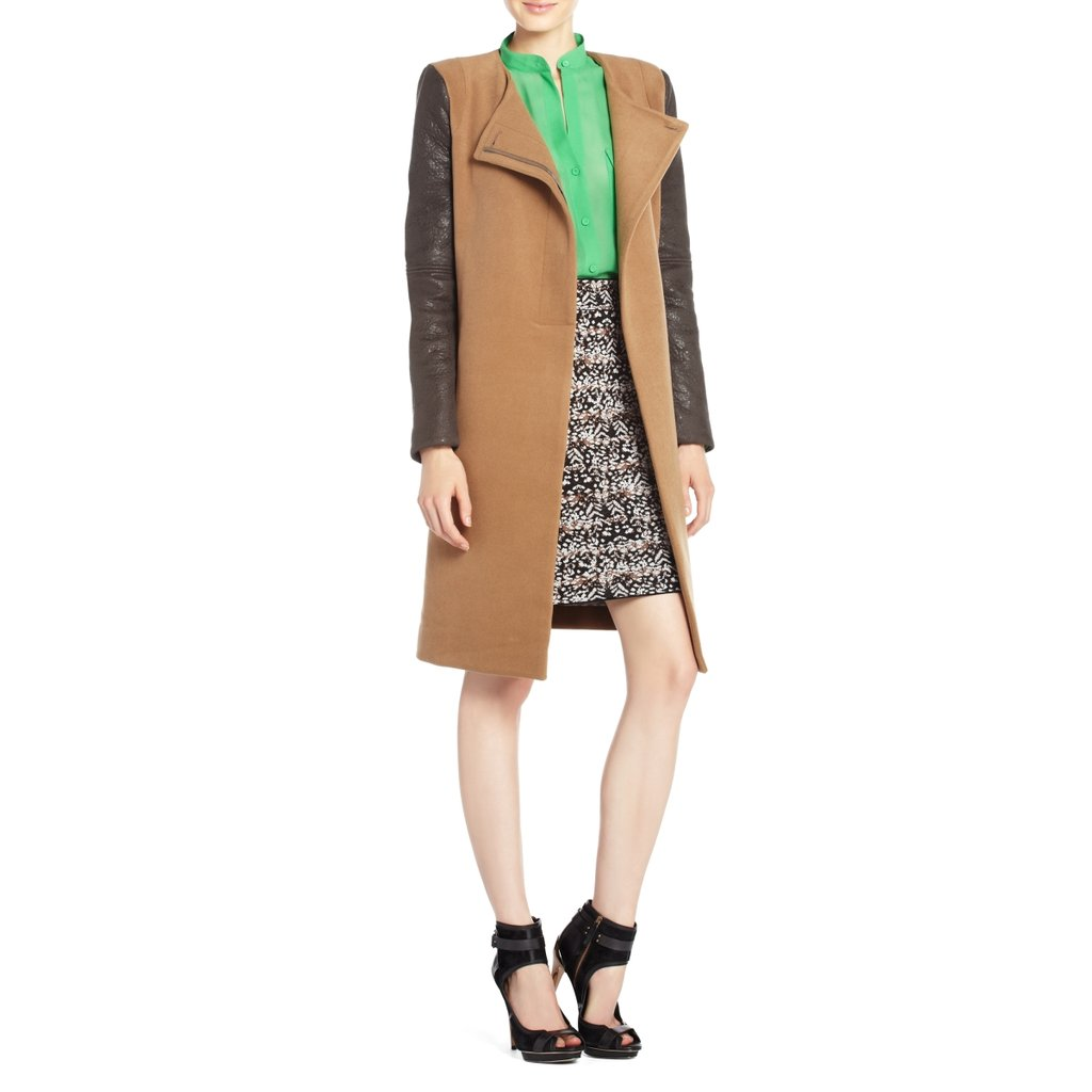 BCBG Max Azria's Genova Contrast-Sleeve Coat ($279, originally $398) is something we could see on style setters like Olivia Palermo and Emma Stone.