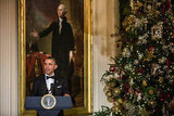 Barack Obama kicked off the festivities with a reception at the White House.