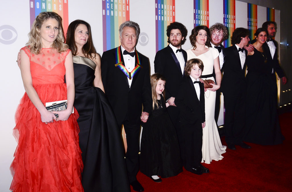 Honoree Dustin Hoffman brought along his whole family to the big event.