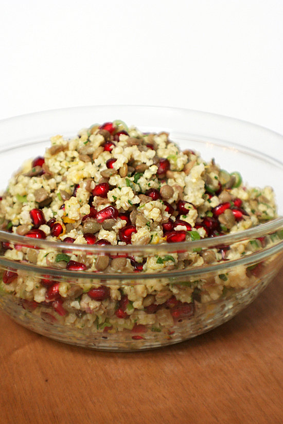 Millet and Lentil Salad With Pomegranate