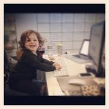 Rachel Zoe snapped a photo of her tiny office assistant, son Skyler Berman. Source: Instagram user rachelzoe