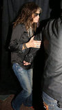 Steven Tyler made his way into the Aerosmith afterparty after his LA concert.