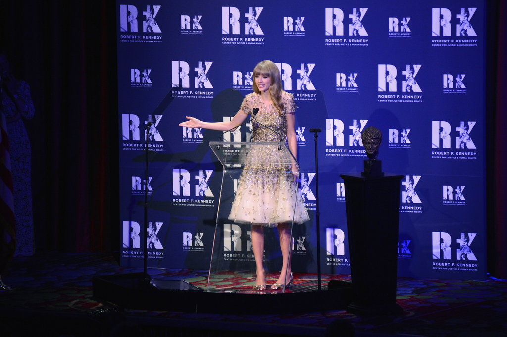 Taylor Swift was on stage at the Ripple of Hope Gala in NYC.