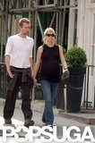 Gwyneth Paltrow and Chris Martin were hand in hand for a walk in London in April 2004.