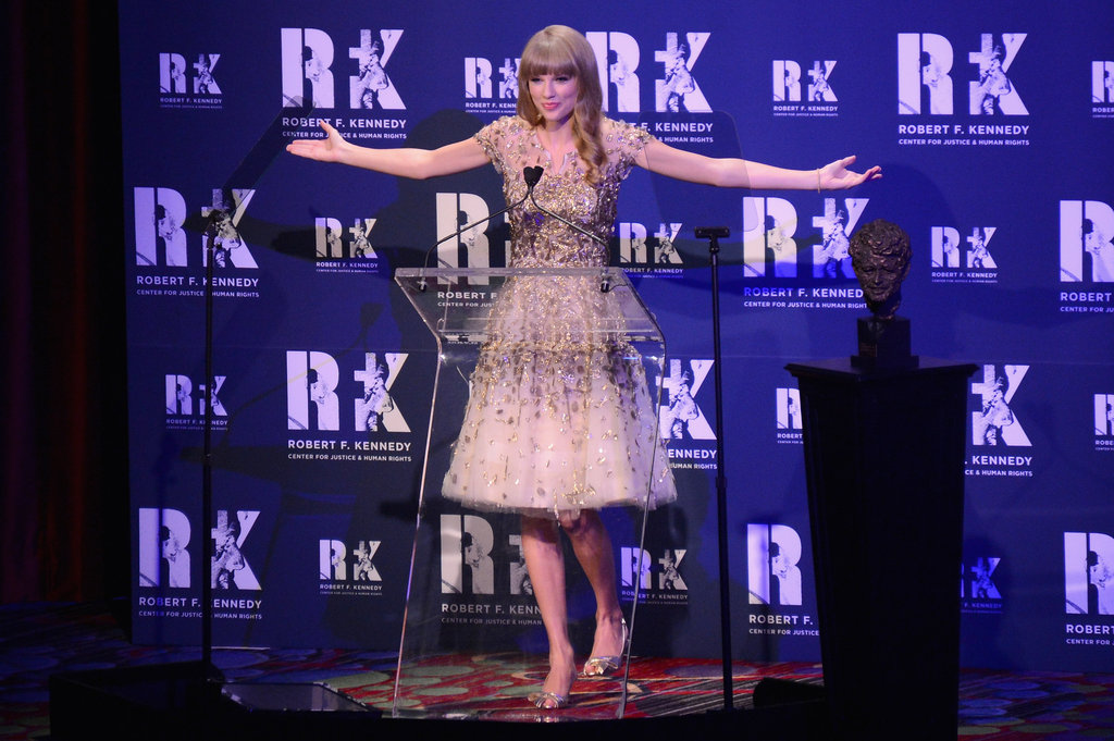 Taylor Swift spoke at the NYC gala.