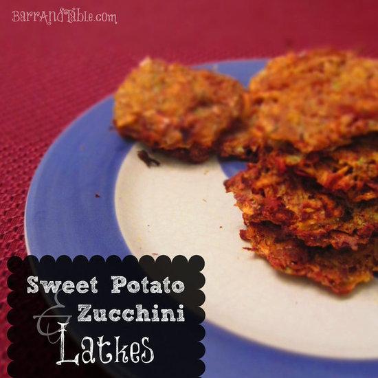 Barr & Table Sweet Potato Zucchini Latkes Hannuka Chanukah
