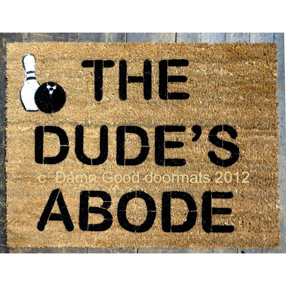 The Big Lebowski Doormat ($45)