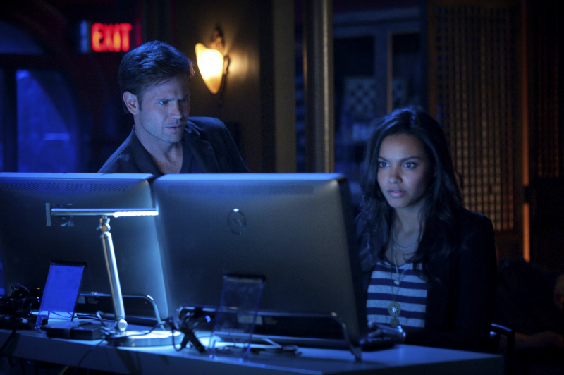 Matthew Davis and Jessica Lucas in Cult.