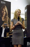 Gwyneth Paltrow did press at the Paris Gallery in Dubai.