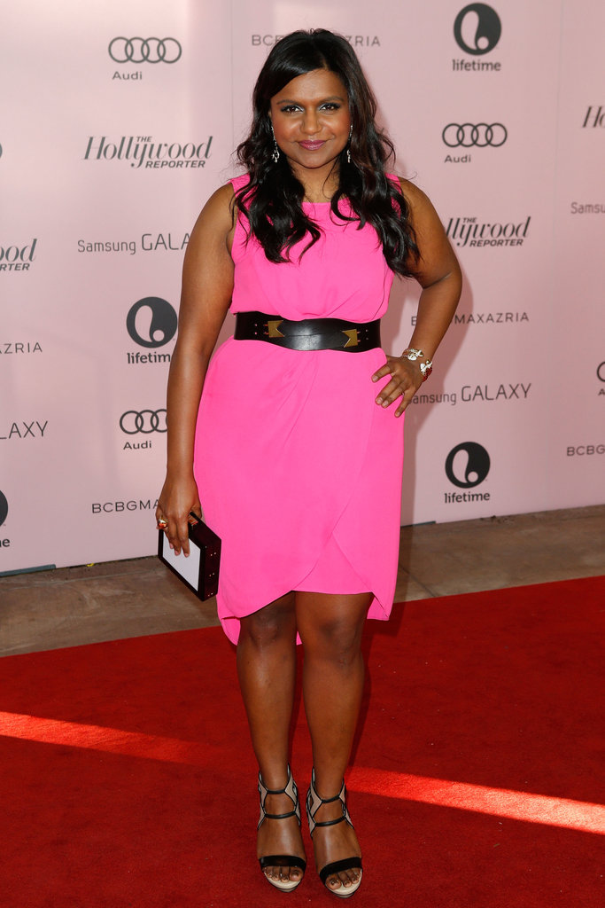 Mindy Kaling wore a pink dress at The Hollywood Reporter's Power 100: Women in Entertainment breakfast in LA.