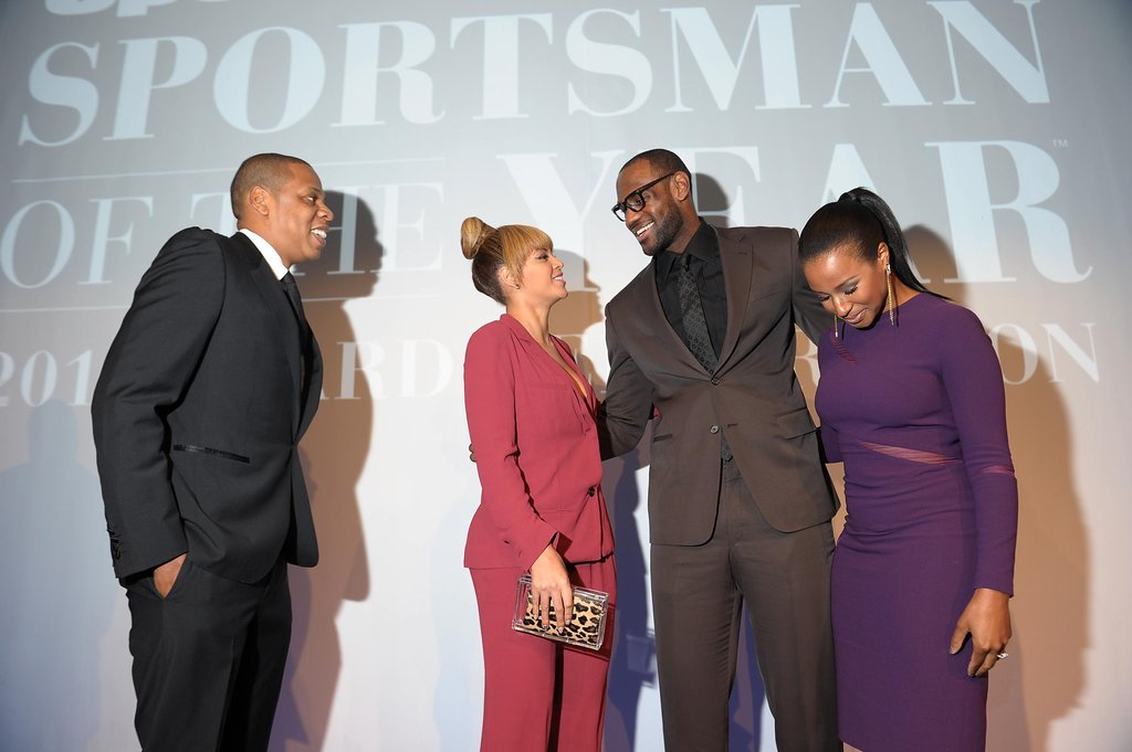 Beyonce Knowles chatted with LeBron James at the Sports Illustrated Sportsman Of The Year Awards in NYC.
