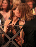 Brad Pitt planted a kiss on Angelina Jolie at the Screen Actors Guild Awards in January.