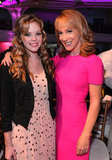 Dreama Walker and Kathy Griffin smiled at the breakfast in LA.