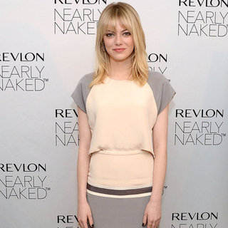 Emma Stone at Revlon's Nearly Naked Makeup Launch in NYC