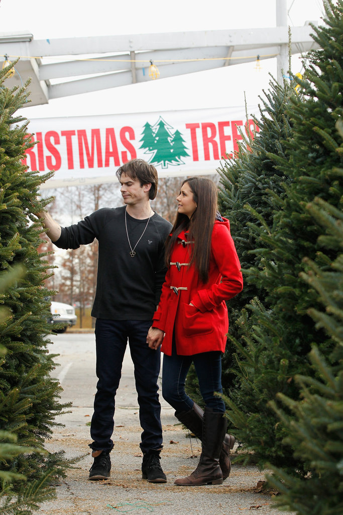 Nina Dobrev and Ian Somerhalder Couple Up to Get a Christmas Tree