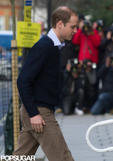 Prince William visited his wife, Kate, at a London hospital.