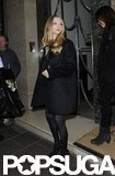 Amanda Seyfried stepped out in a black coat.