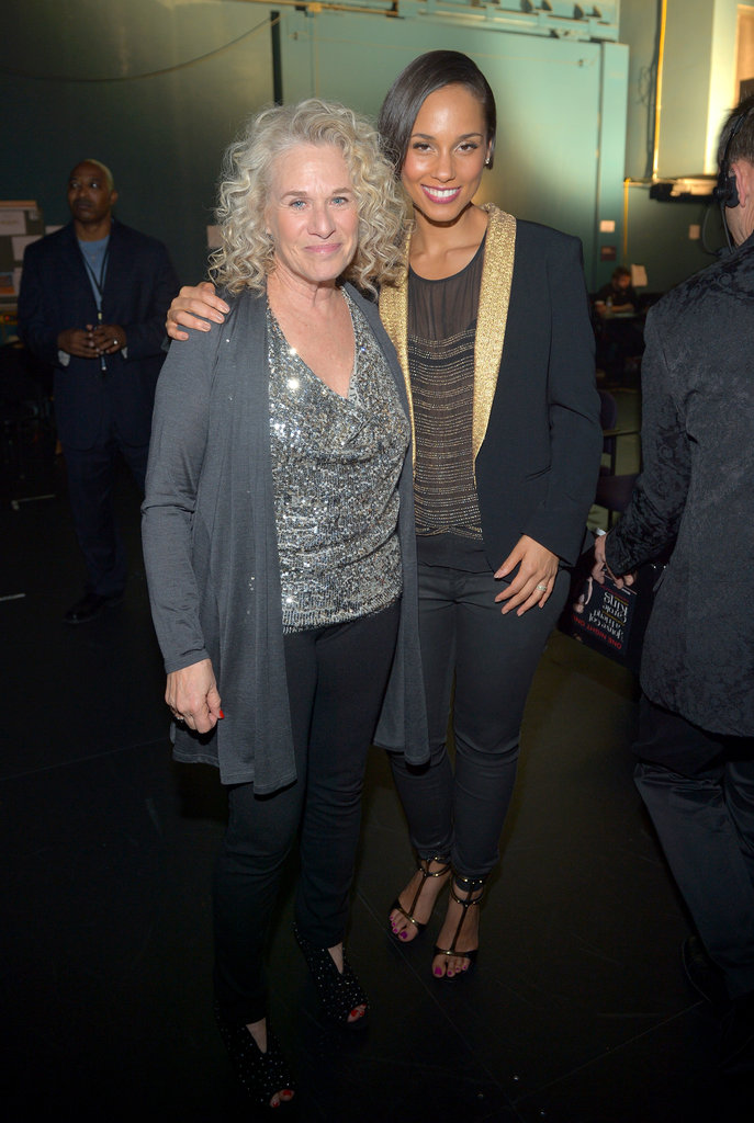 Alicia Keys posed with honoree Carole King.