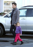 Ben and Seraphina Affleck held hands.