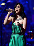 Katy Perry took the stage at a benefit concert in LA.
