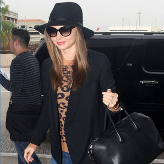 Miranda Kerr Catching a Flight at LAX
