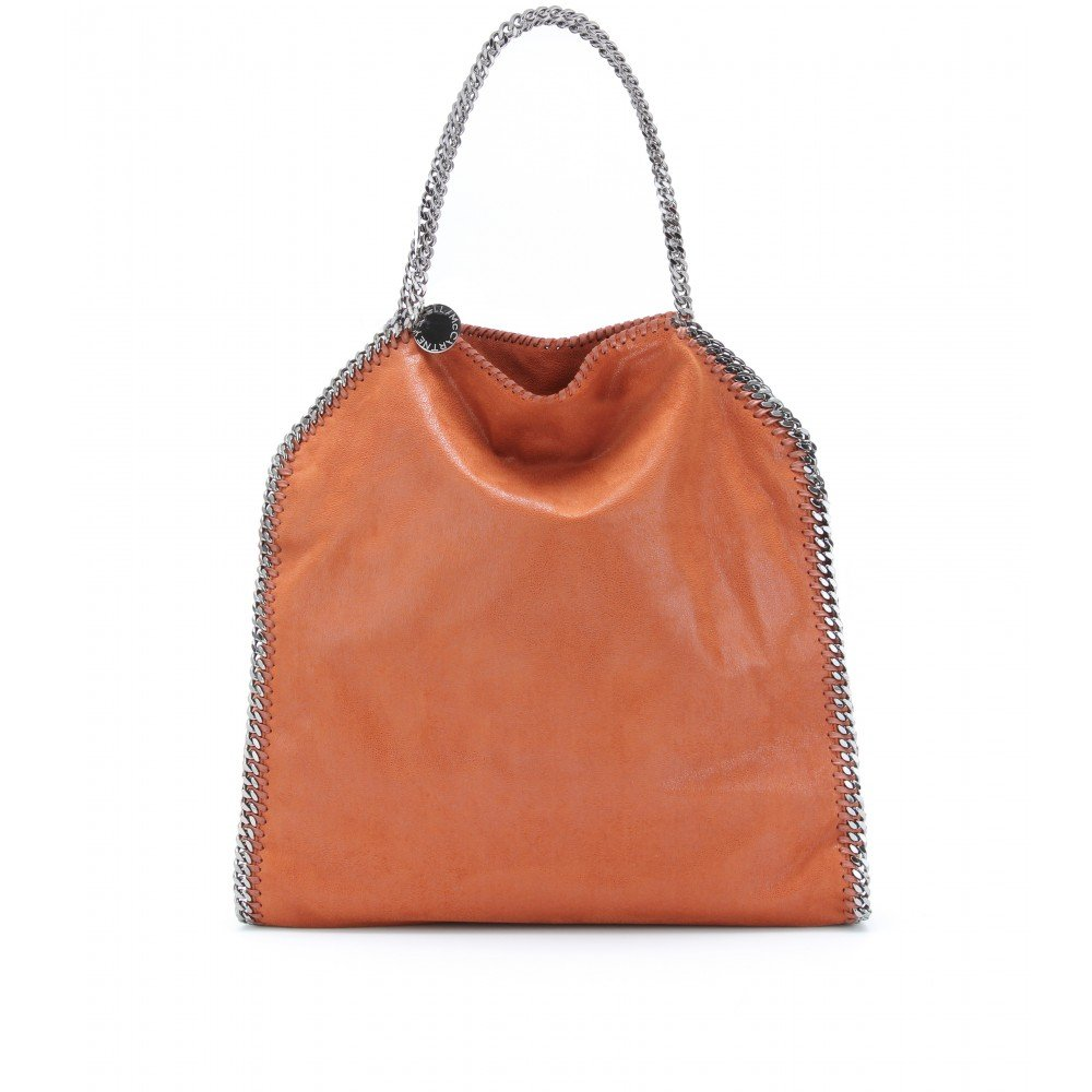 Stella McCartney Falabella Large Shaggy Tote in Tangerine