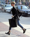 Miley Cyrus ran an errand in Beverly Hills.
