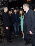 Justin Timberlake joined his wife, Jessica Biel, for the Playing For Keeps premiere afterparty in NYC.