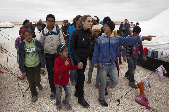Angelina Jolie Travels to Jordan on Behalf of the UNHCR