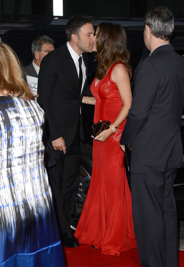 Ben Affleck whispered in Jennifer Garner's ear at the LA premiere of Argo in October, where she wore a sexy red dress.