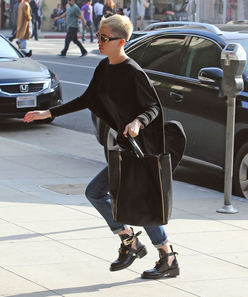 Miley Cyrus was on the go in LA.
