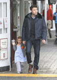 Ben Affleck took his daughter Seraphina Affleck out for breakfast in Brentwood, CA.