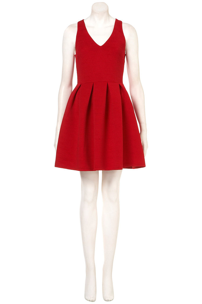 This Topshop Cherry Twist Rib Skater Dress ($84) is the quintessential party dress: cinched at the waist, made to show of your stems, and with a neckline perfect for showcasing your sparkly add-ons.