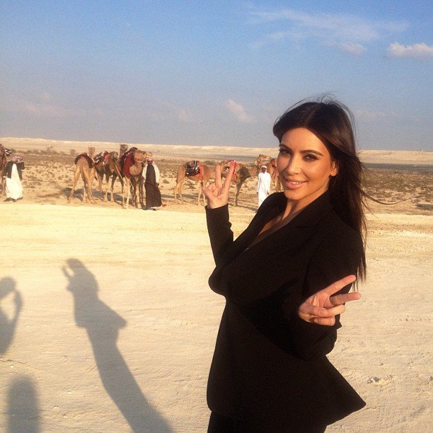 Kim Kardashian shared a photo from her trip to Bahrain. Source: Instagram user kimkardashian
