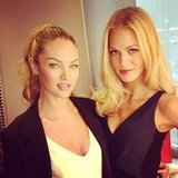 "Candice Swanepoel and Erin Heatherton ""smized"" for the camera. Source: Instagram user angelcandices"