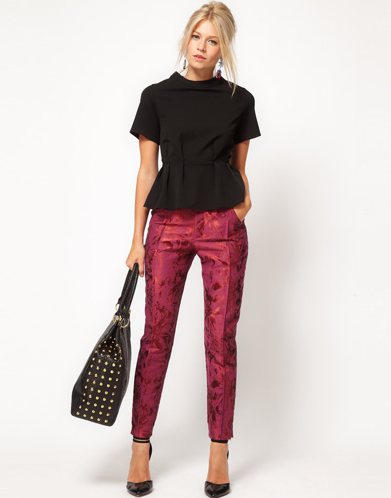 These ASOS Floral Jacquard Trousers ($69) have party time written all over them. Of course, you can always temper the festive vibe with a chunky knit on top.