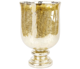 Get the look by arranging poinsettias in this gold Manzanita Vase ($60).