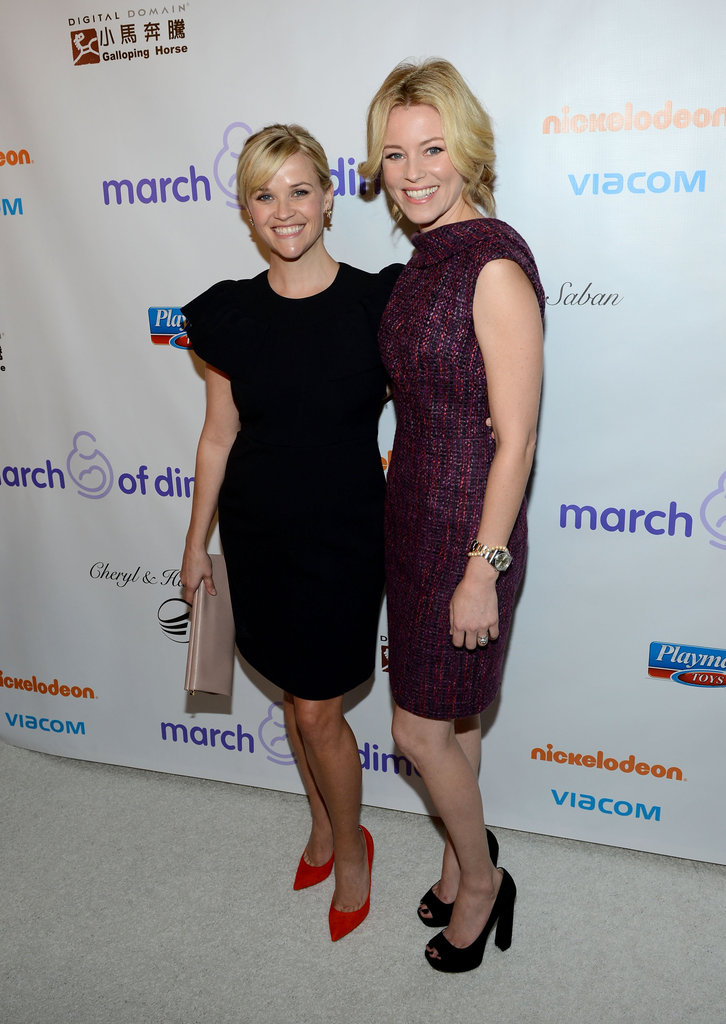 Reese Witherspoon and Elizabeth Banks posed together on the carpet.