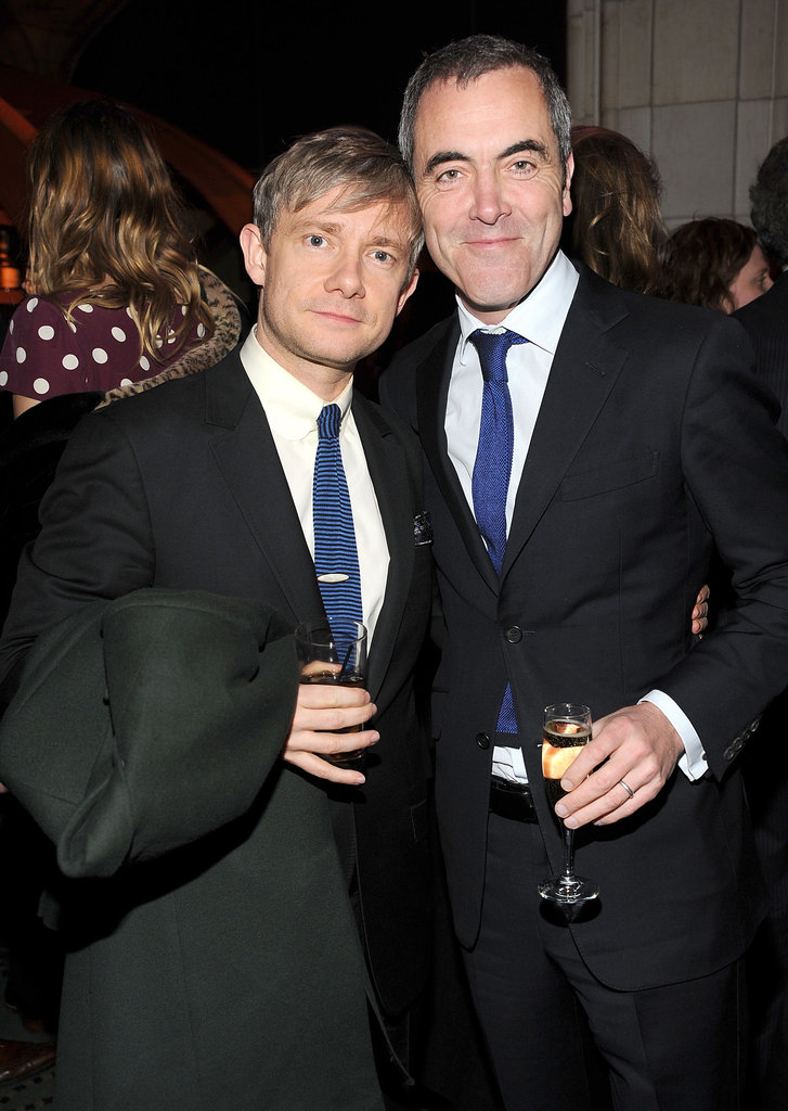 Martin Freeman and James Nesbitt grabbed a drink.