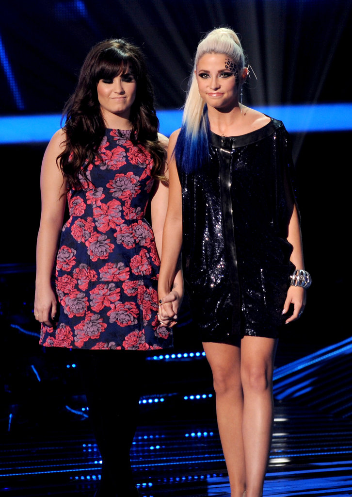 Demi Lovato took the stage with CeCe Frey.