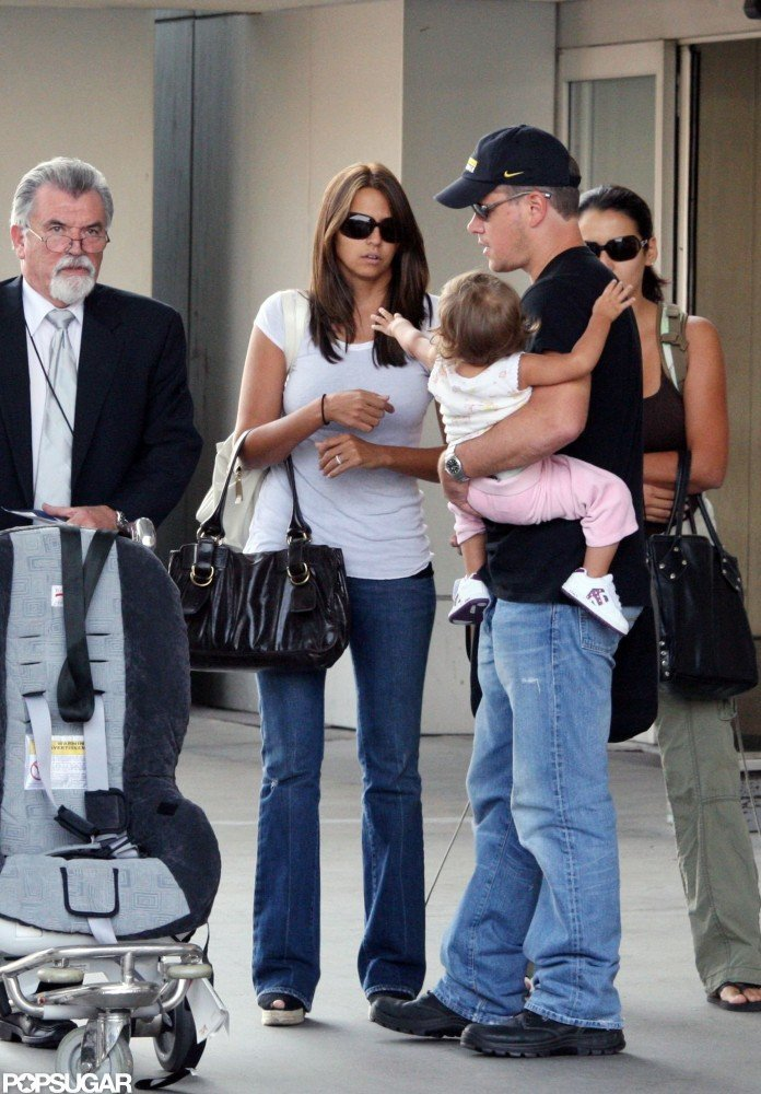 Matt and Luciana and their daughter arrived at LAX together in October 2007.