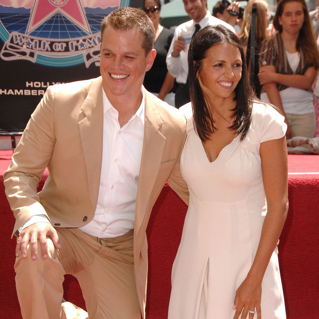 Matt and Luciana Damon Cute Pictures