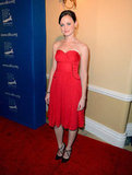 Alexis Bledel stepped out in a red dress for the awards.