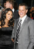Matt and Luciana Damon were all smiles at an LA premiere in July 2007.