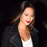 You Might Just Need This Black Biker Coat à la Jamie Chung