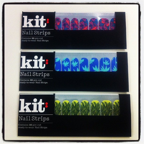 The coolest nail stickers ever, courtesy of Kit Cosmetics. Only $9.95 a pack!