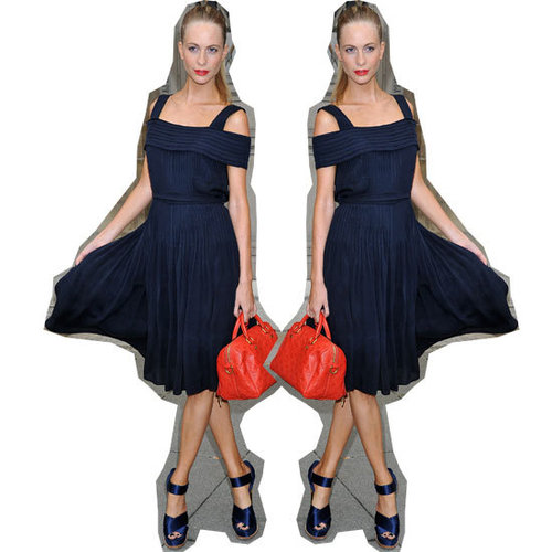 Trending: Get Poppy Delevingne's Classic Navy & Red Look Now