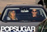 Jennifer Aniston and Justin Theroux went shopping.