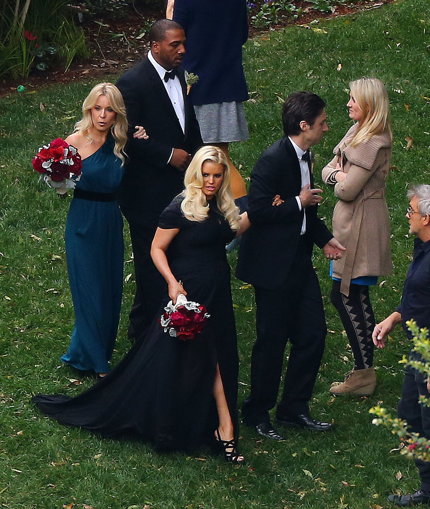 Jessica Simpson and Zach Braff attended CaCee Cobb and Donald Faison's wedding.